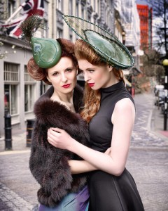 women in hats - Beverley Edmondson bespoke hats