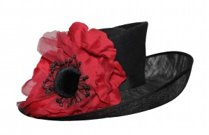 poppy hat - Beverley Edmondson handmade poppy hat