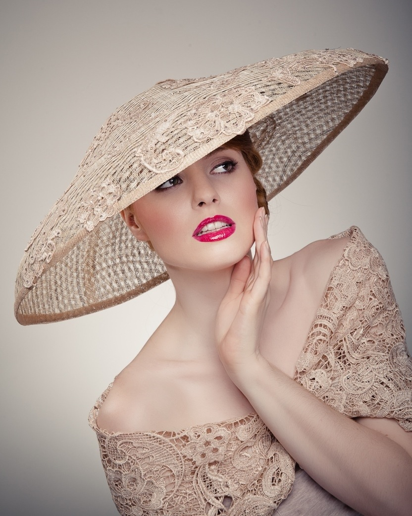 Women in hat - Beverley Edmondson high fashion