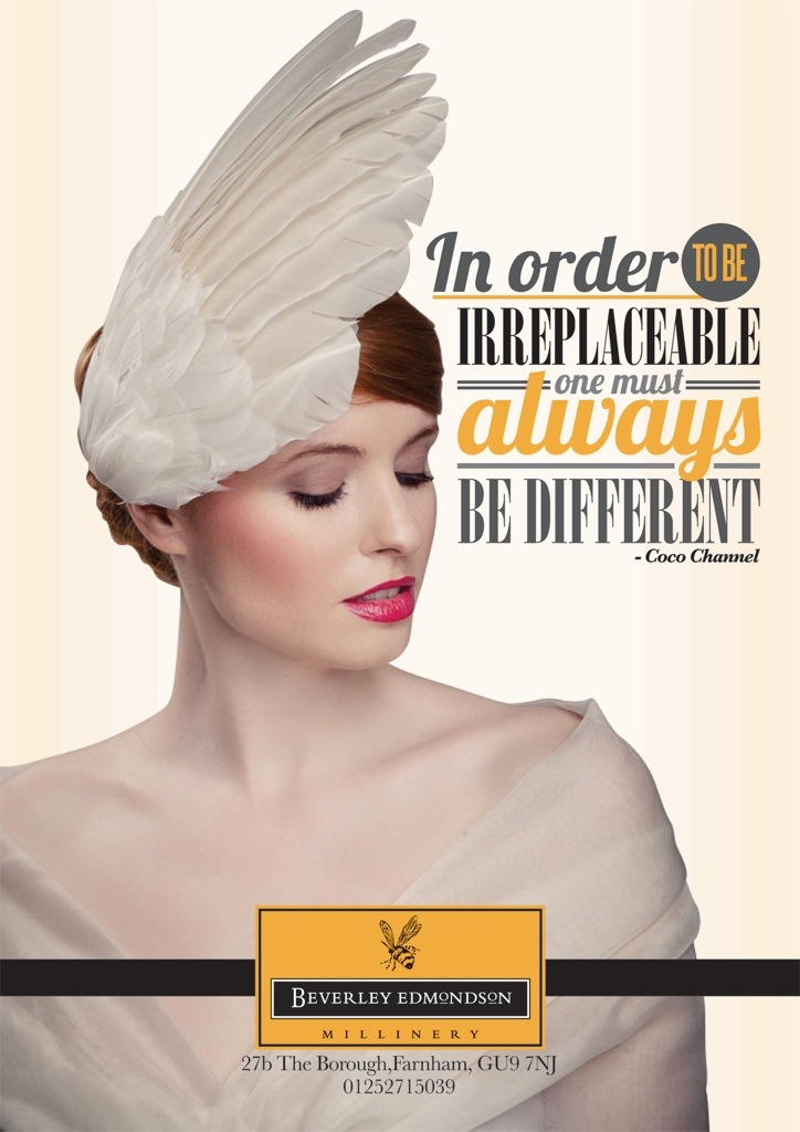 Hat Fashion advert - Beverley Edmondson millinery