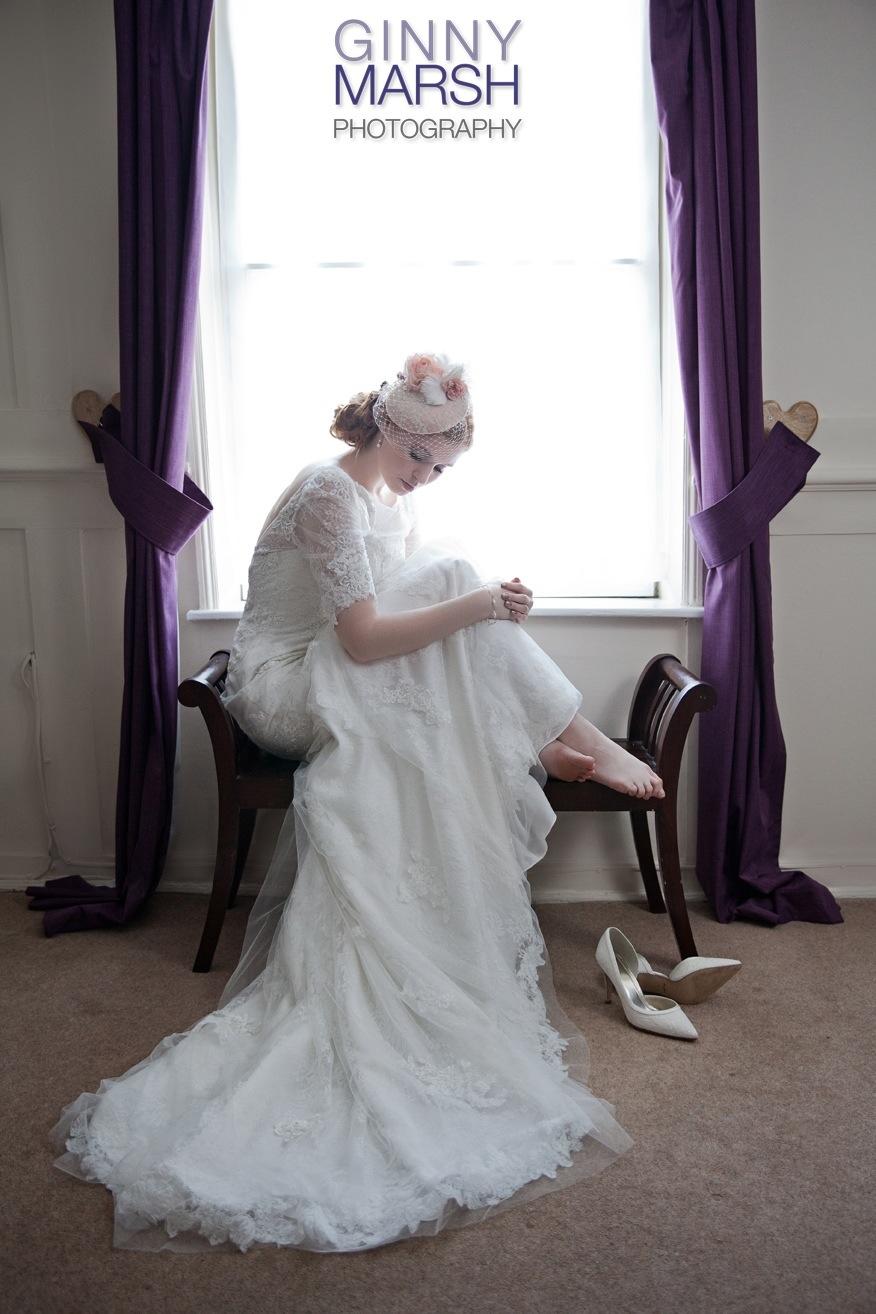 Model by window - Beverley Edmondson Millinery
