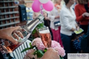rose champagne - Beverley Edmondson fashion show