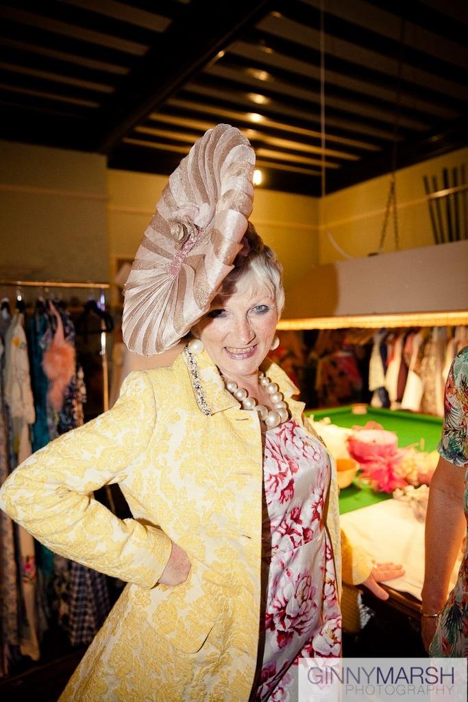 lady in hat - Beverley Edmondson millinery farnham
