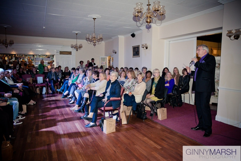Audience members and speaker - Beverley Edmondson Fashion Show