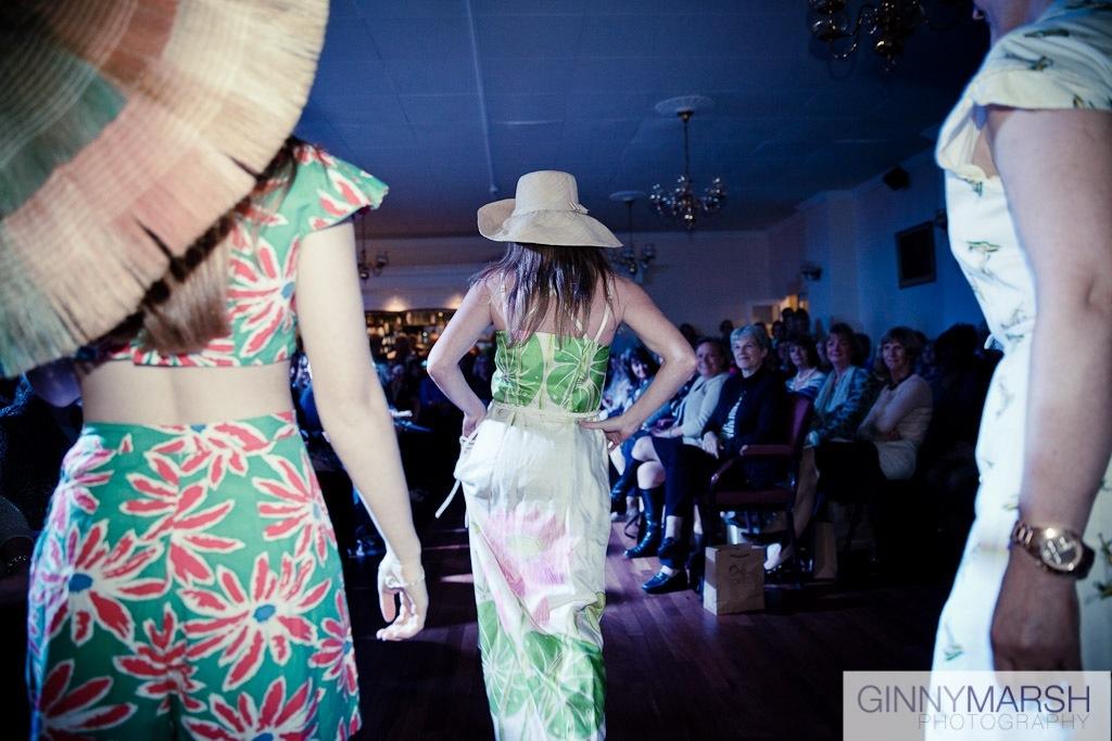 Fashion show - Beverley Edmondson millinery farnham