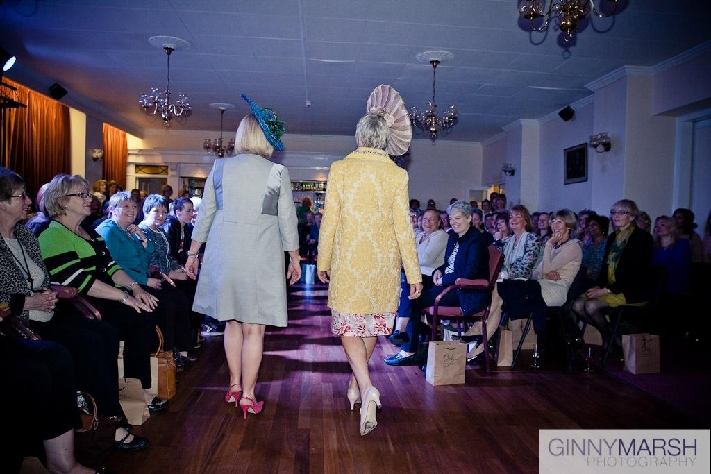 Ladies fashion show - Beverley Edmondson bespoke hats farnham