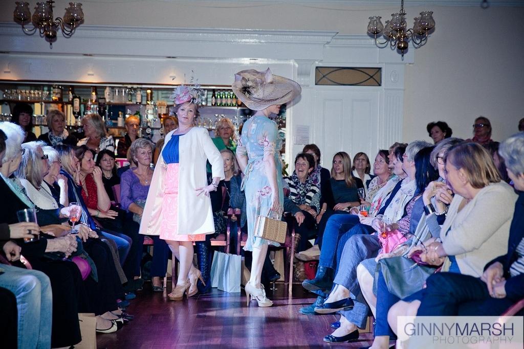 Ladies fashion show - Beverley Edmondson millinery fashion farnham