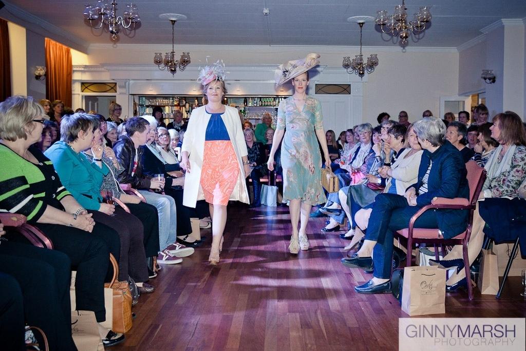 Ladies fashion show - Beverley Edmondson bespoke millinery farnham
