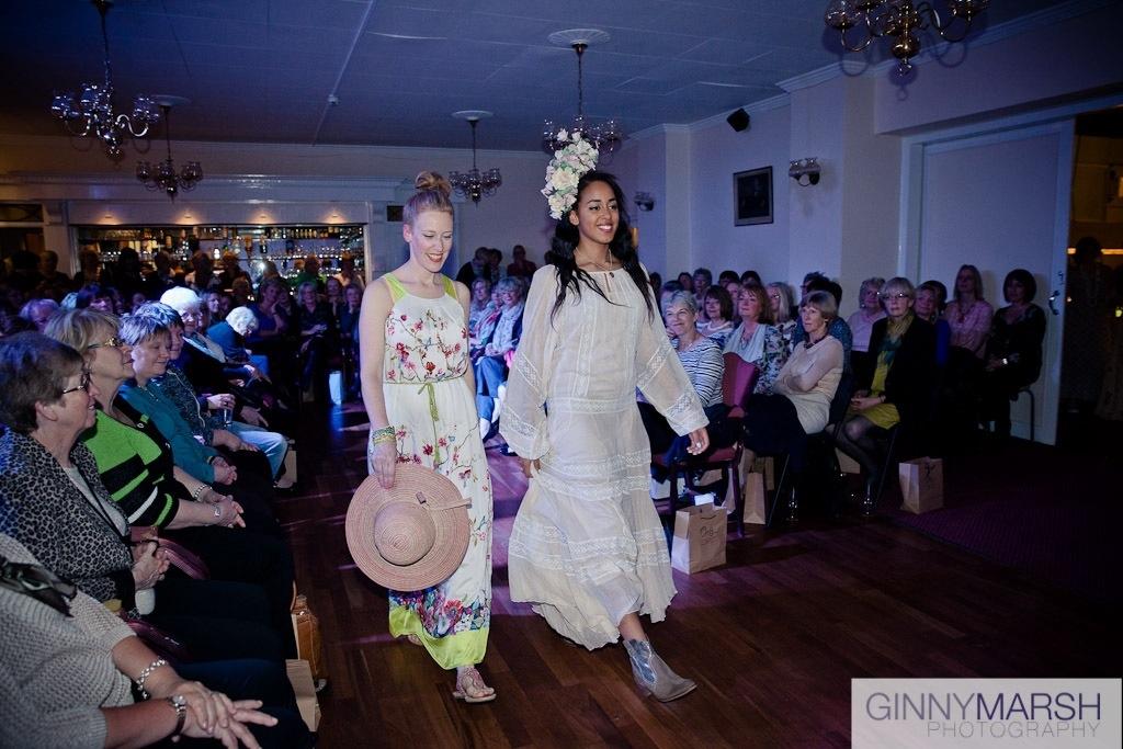 Models on catwalk- Beverley Edmondson fashion show