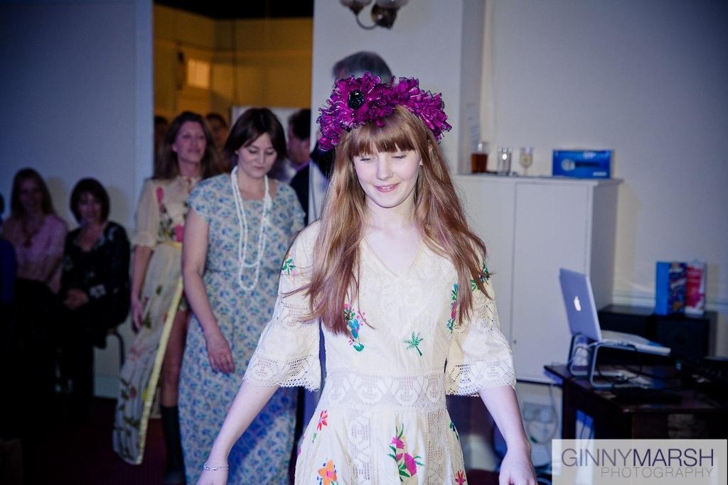 Flower girl - Beverley Edmondson fashion show