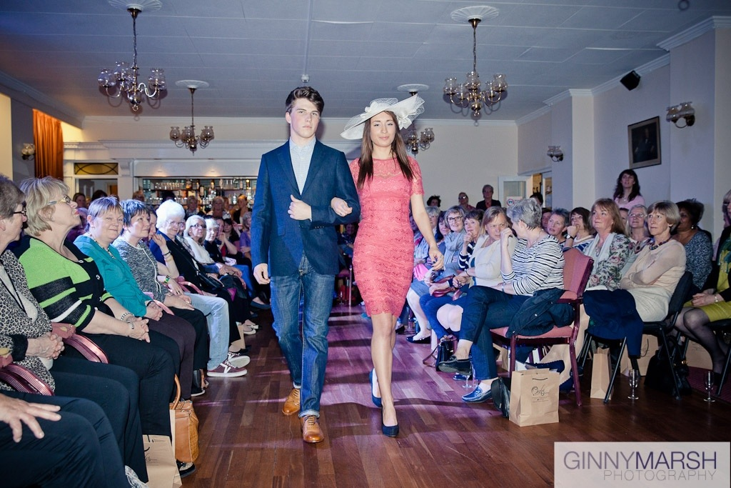 Models at fashion show - Beverley Edmondson millinery fashion show