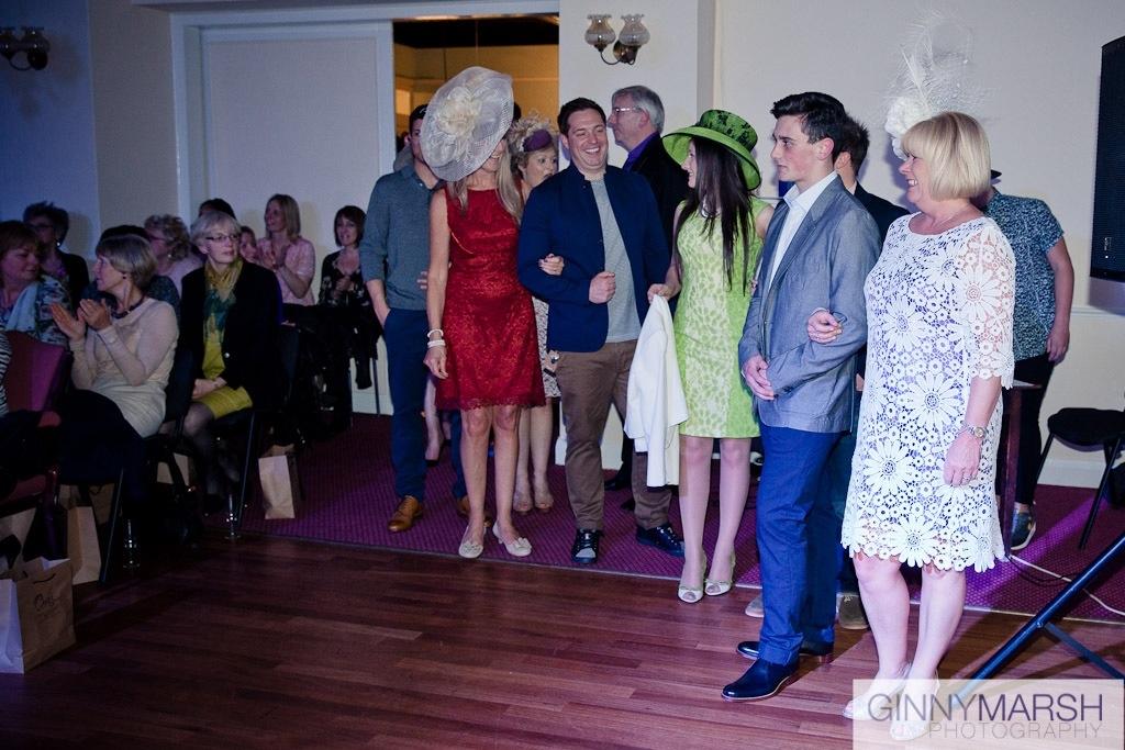 Models at fashion show - Beverley Edmondson Millinery fashion show farnham