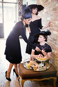 Beverley Edmondson Collection of black vintage styled hats, Photography by Ginny Marsh