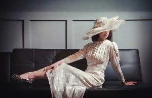 Beverley Edmondson Cream Soft Layered Wide Brim Hat, Photography by Ginny Marsh