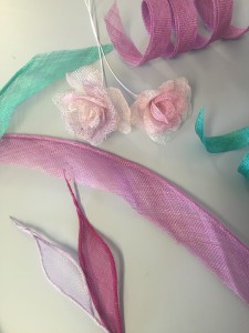 selection of completed millinery trim samples