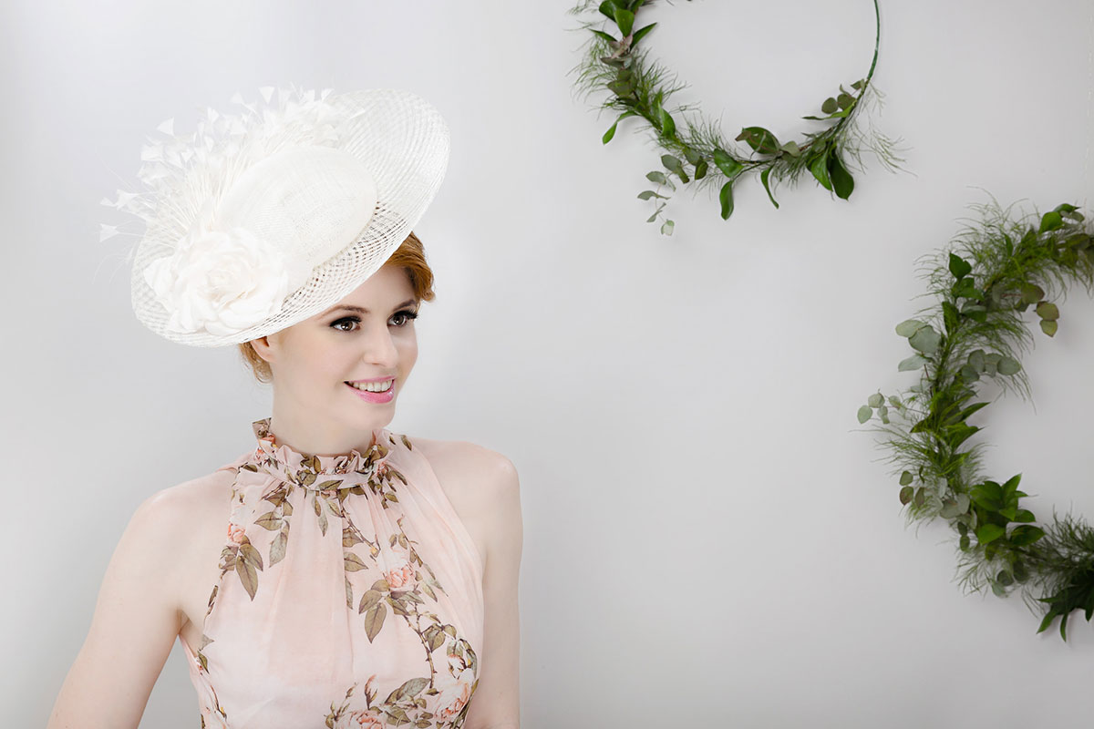 ivory wedding hat ascot