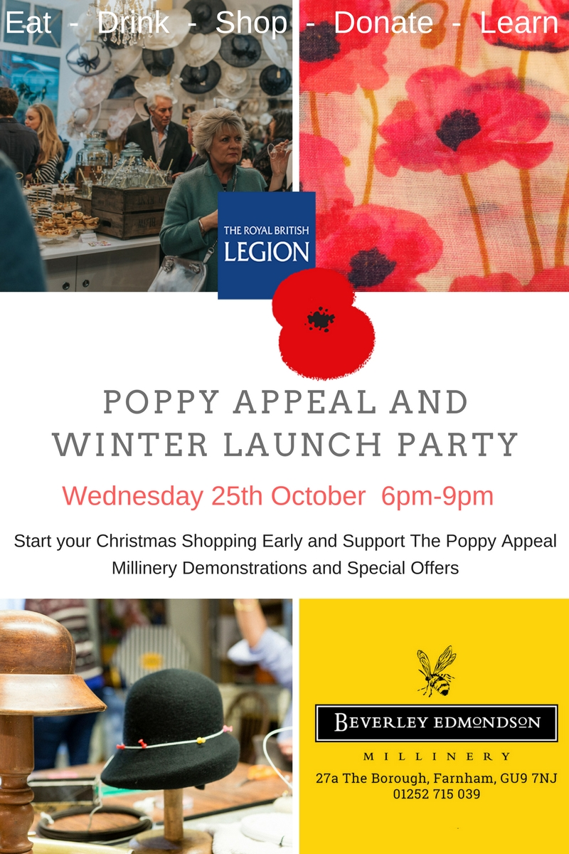 poppy appeal christmas launch party, surrey