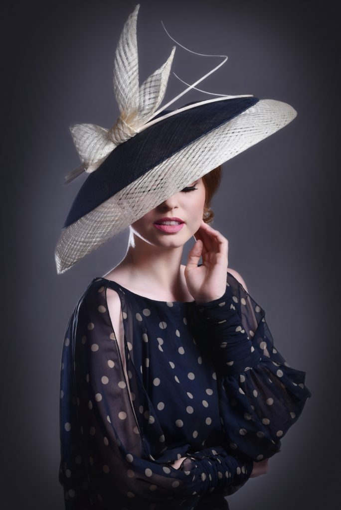 Black & White Saucer Fascinator with Bow