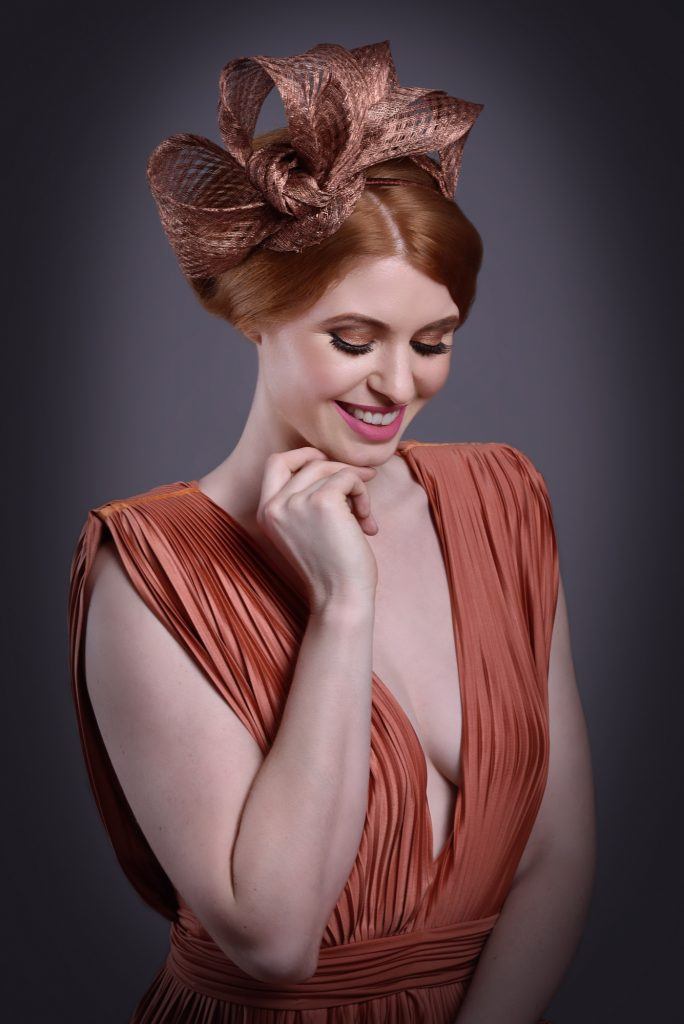 Copper Bow Hair Fascinator