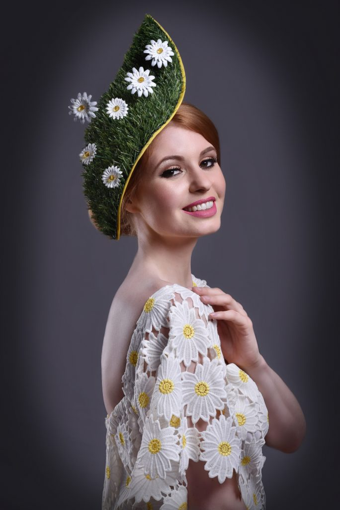 Grass Green Ascot Fascinator
