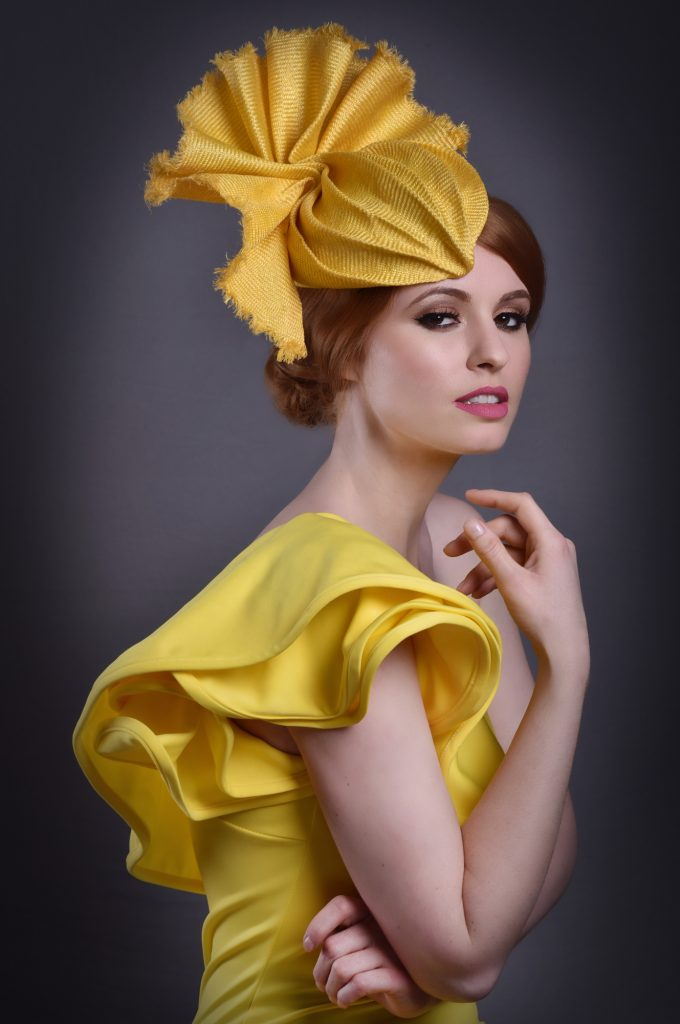 Mustard Yellow Wedding Fascinator