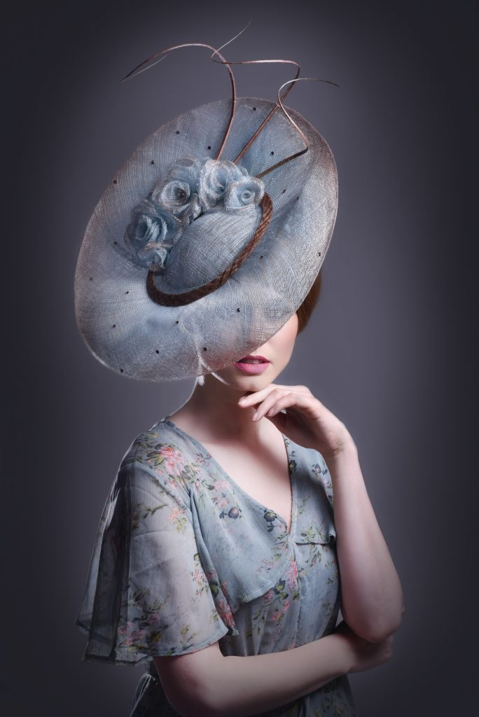 Powder Blue Wedding Hat