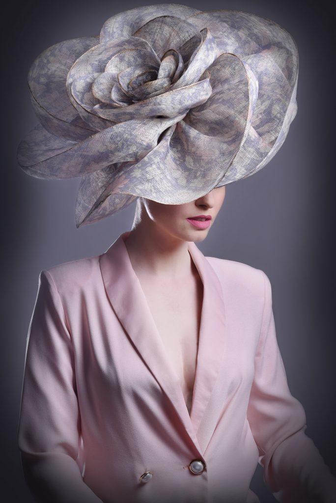 Swirling Ivory Wedding Hat
